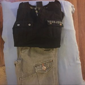 4 pieces Boys  2 shirts and 2 jeans